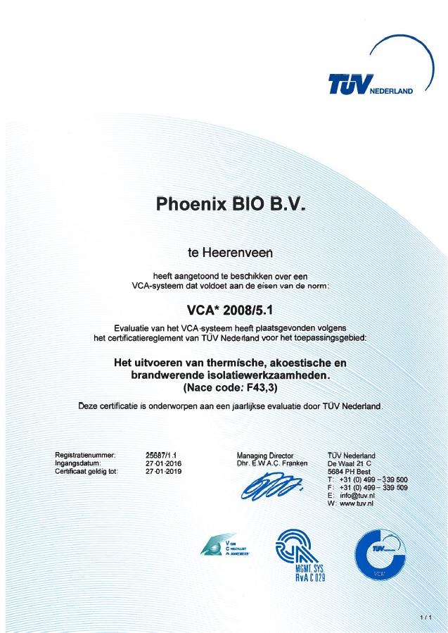VCA* Phoenix BIO bv